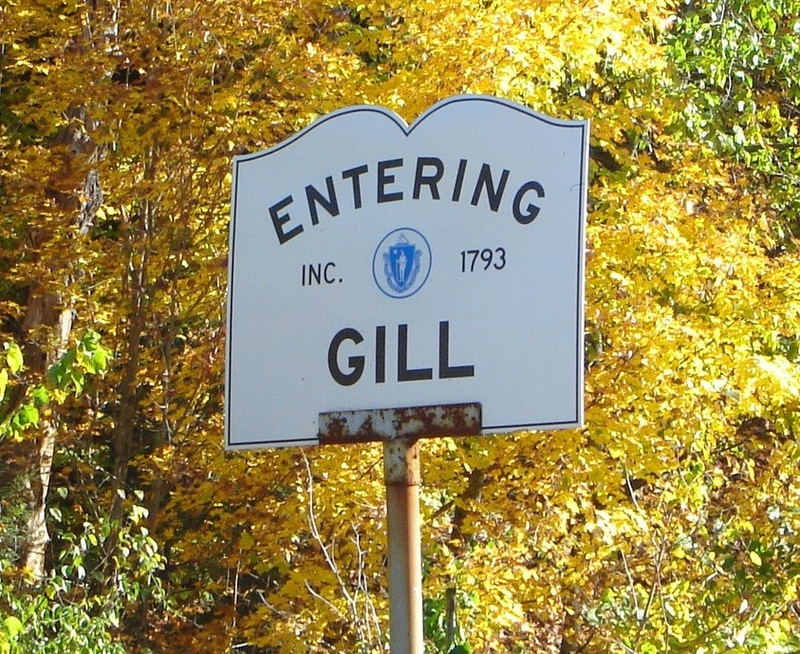 Entering Town of Gill Sign